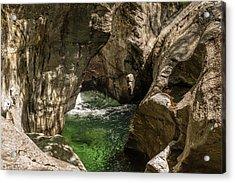 Emerald Gorge Acrylic Print