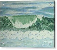 Emerald Green Acrylic Print by Stanza Widen