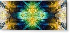 Emerald Kiss Abstract Art By Sharon Cummings Acrylic Print