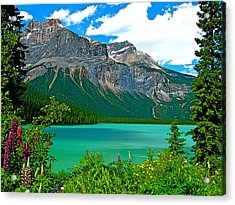 Emerald Lake In Yoho Np-bc Acrylic Print by Ruth Hager