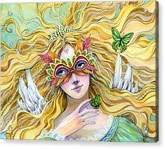 Emerald Princess Acrylic Print by Sara Burrier