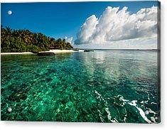 Emerald Purity. Kuramathi Resort. Maldives Acrylic Print by Jenny Rainbow