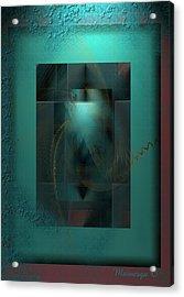 Emerald Rain Acrylic Print