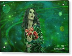 Emerald Universe Acrylic Print by Michael Rucker