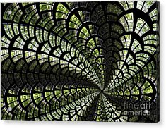 Acrylic Print featuring the photograph Emerald Whirl. by Clare Bambers