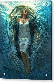 Acrylic Print featuring the painting Emerge Lighter Version by Mia Tavonatti