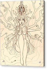 Emergence Sketch Acrylic Print by Coriander  Shea