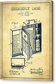 Emergency Case Patent From 1904 - Vintage Acrylic Print by Aged Pixel