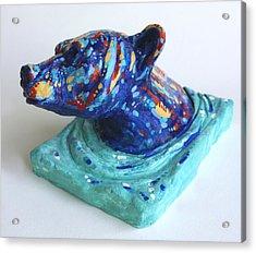 Emerging Bear Acrylic Print by Derrick Higgins