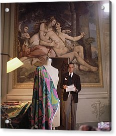 Emilio Pucci By A Fresco Acrylic Print by Horst P. Horst