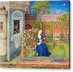Emily In The Garden Acrylic Print