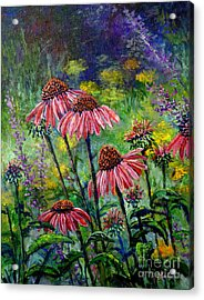 Acrylic Print featuring the painting Emily's Flowers by Lou Ann Bagnall