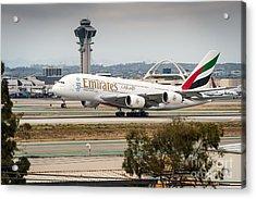 Emirates A380 Acrylic Print