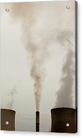 Emissions From A Coal Fired Power Station Acrylic Print
