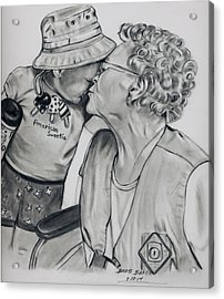 Emma And Great Grandma Acrylic Print by Barb Baker
