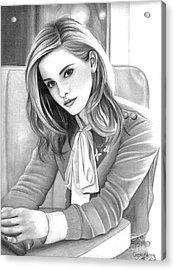 Emma Watson Acrylic Print by Crystal Rosene