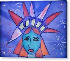 Emma's Lady Liberty Acrylic Print by Alice Gipson