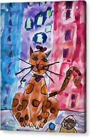 Emma's Spotted Kitty Acrylic Print by Alice Gipson