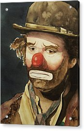 Emmett Kelly Acrylic Print by Greg and Linda Halom