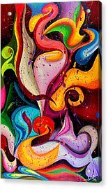 Modern Colorful Abstract  Acrylic Print