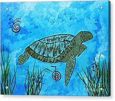 Emotional Healing With The Sea Turtle Acrylic Print