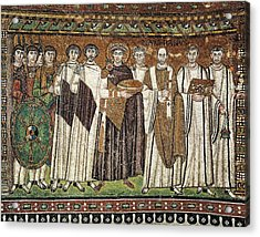 Emperor Justinian And His Court. Ca Acrylic Print by Everett