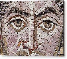 Emperor Justinian I 483-565 C.547 Ad Mosaic Detail Of 140283 Acrylic Print by Byzantine School