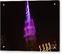 Empire Light Blur Acrylic Print