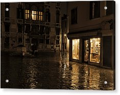 Winter's Night In Venice Acrylic Print by Marion Galt