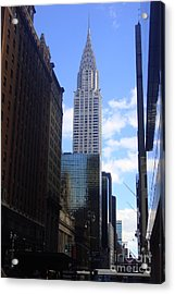 Empire State Acrylic Print by Brittany Perez