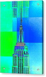 Empire State Building 5 Acrylic Print by Az Jackson