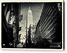 Empire State Building And Macys In New York City Acrylic Print by Sabine Jacobs