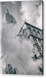 Empire State Building And Steam Acrylic Print