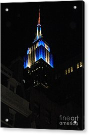 Empire State Building At Night Acrylic Print by Emmy Marie Vickers