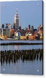 Empire State Building Dressed Up In Pastels Acrylic Print