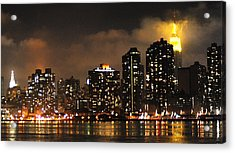 Empire State Building From Long Island City Acrylic Print