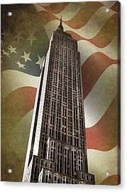 Empire State Building Acrylic Print by Mark Rogan