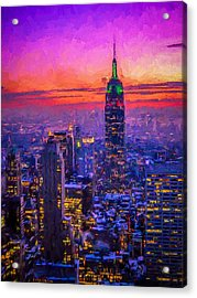 Empire State Building Acrylic Print by Michael Petrizzo