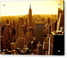 Manhattan And Empire State Building Acrylic Print