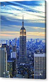 Empire State Building New York City Usa Acrylic Print by Sabine Jacobs