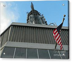 Empire State Building Point Of View Acrylic Print by Emmy Marie Vickers