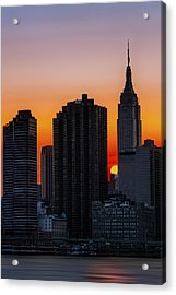 Empire State Building Sunset Acrylic Print by Susan Candelario