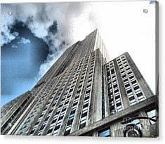 Empire State Building - Vertigo In Reverse Acrylic Print by Luther Fine Art