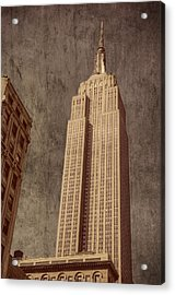 Empire State Building Vintage Acrylic Print by Chris McKenna