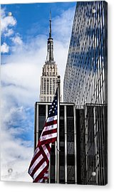 Empire State Acrylic Print by Chris Halford