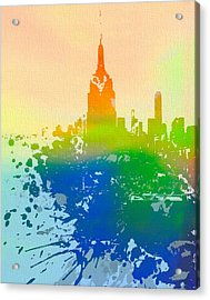 Empire State  Acrylic Print by Dan Sproul