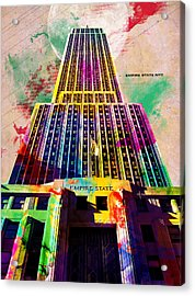 Empire State Acrylic Print by Gary Grayson