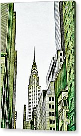 Empire State Manhattan Acrylic Print by Celestial Images