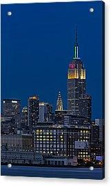 Empire State Acrylic Print by Susan Candelario
