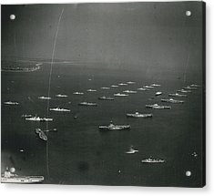 Empire�s Warships Line Up For The Coronation Review At Acrylic Print by Retro Images Archive